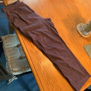 18 W/P Lands' End brown stretchy pants